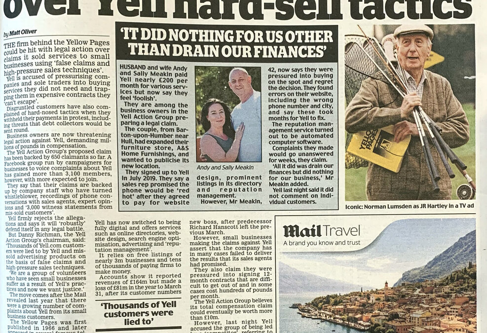Group Claim announced in The Daily Mail